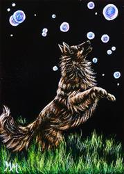 Art: Chasing Bubbles  (SOLD) by Artist Monique Morin Matson