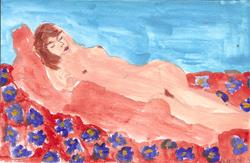 Art: sleeping nude 1 by Artist Nancy Denommee