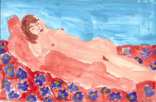 Art: sleeping nude 1 by Artist Nancy Denommee