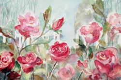 Art: A Promise of Roses by Artist Delilah Smith