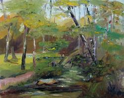 Art: Stream in the Park by Artist Delilah Smith