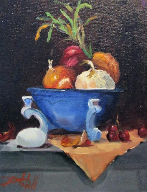Art: Onions and Egg by Artist Delilah Smith