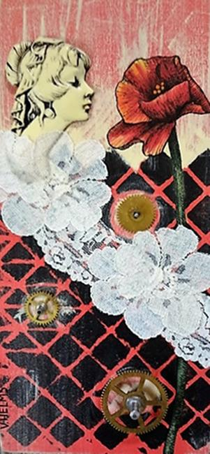 Art: Poppy and Lace by Artist Vicky Helms