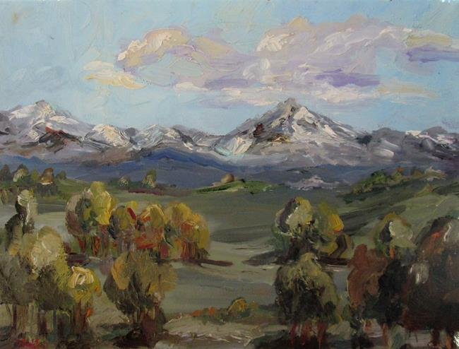 Art: Landscape No. 8 Mountains by Artist Delilah Smith