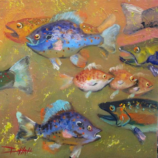 Art: Confusion of Fish by Artist Delilah Smith