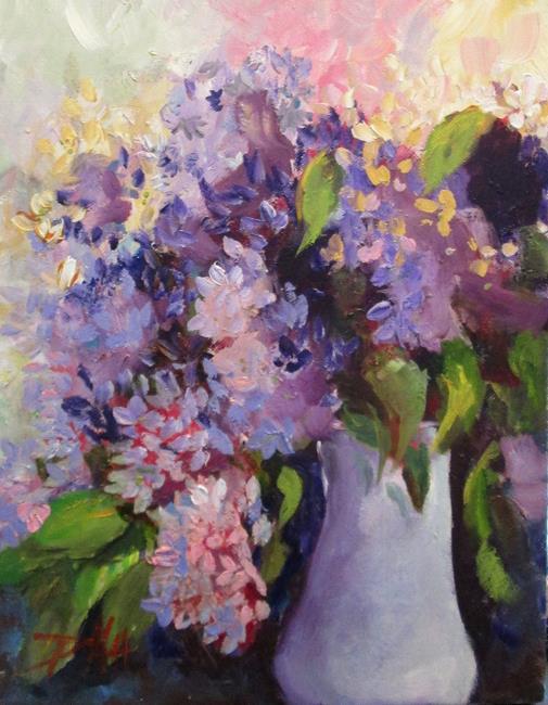 Art: Purple Lilacs by Artist Delilah Smith