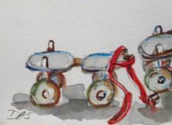 Art: Roller Skates by Artist Delilah Smith