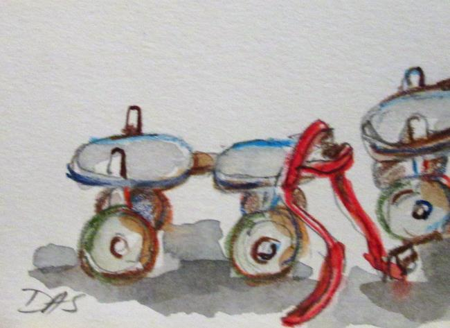 Art: Roller Skates by Artist Delilah Smith
