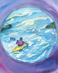 Art: Touching Life (sold) by Artist Kathy Crawshay