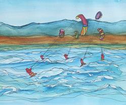 Art: Living the LV Life (sold) by Artist Kathy Crawshay