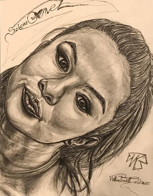 Art: Selena Gomez Selfie. by Artist William Powell Brukner