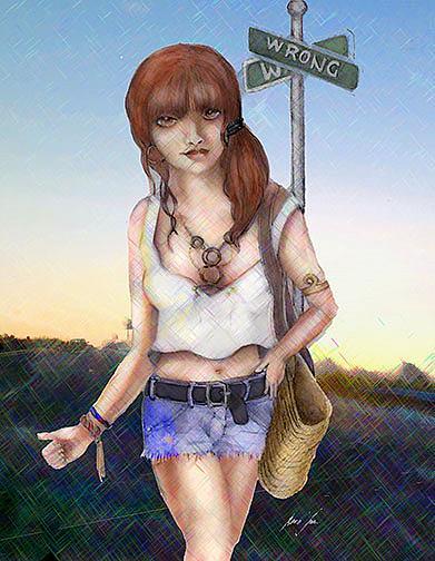 Art: Crossroads by Artist Alma Lee