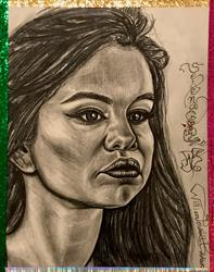 Art: THE GODDESS SELENA GORGEOUS GOMEZ. by Artist William Powell Brukner