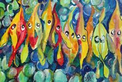 Art: Bubble Trouble Fish by Artist Delilah Smith