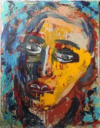 Art: his face by Artist Nancy Denommee