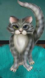Art: Boo Kitty  PRT IMAGE lr by Artist Alma Lee