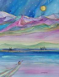 Art: A Dreamer by Artist Kathy Crawshay