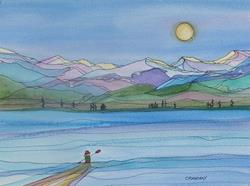 Art: Safe and Clear (sold) by Artist Kathy Crawshay