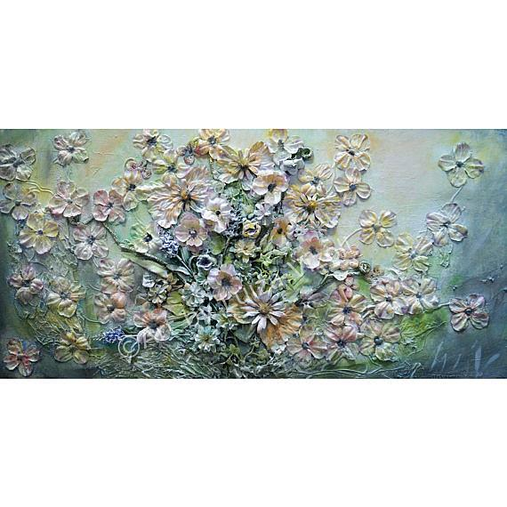 Art: FLOWERS BOUQUET collage by Artist LUIZA VIZOLI