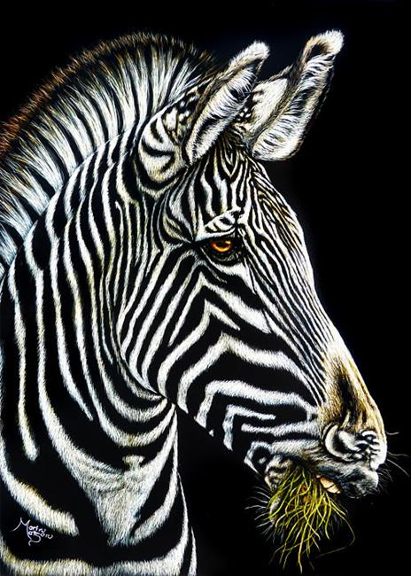 Art: Zebra  (SOLD) by Artist Monique Morin Matson