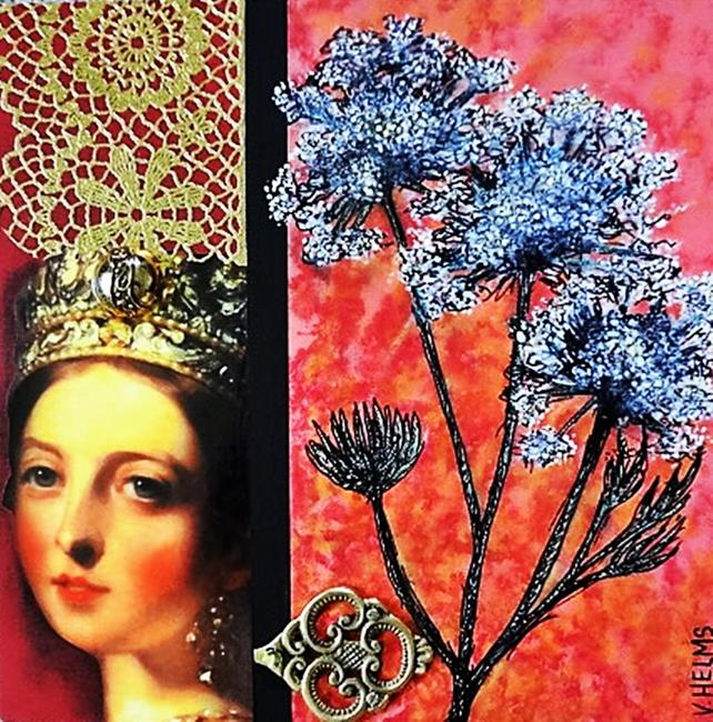 Art: Queen Victoria's Lace (SOLD) by Artist Vicky Helms