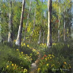 Art: Spring Woods by Artist Janet M Graham