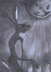 Art: MOONGAZING HARE h3318 by Artist Dawn Barker
