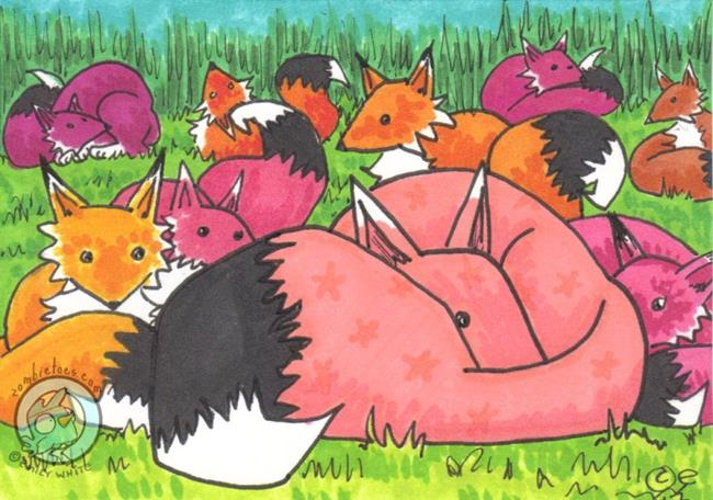 Art: Snuggle Field by Artist Emily J White
