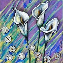 Art: Calla Lilies by Artist Vicky Helms