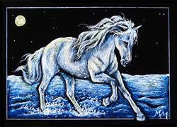 Art: Moonlit Run  (SOLD) by Artist Monique Morin Matson