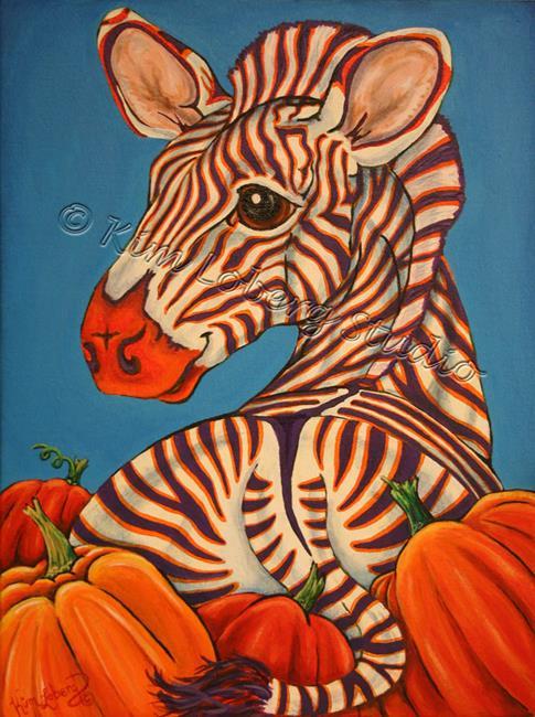 Art: Picking Out Pumpkins by Artist Kim Loberg