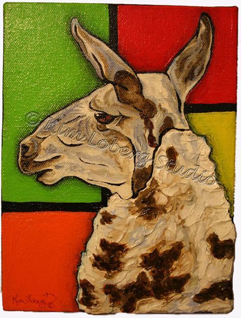 Art: A Llama Named Piet by Artist Kim Loberg