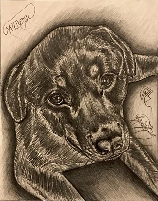 Art: MUNSON. by Artist William Powell Brukner