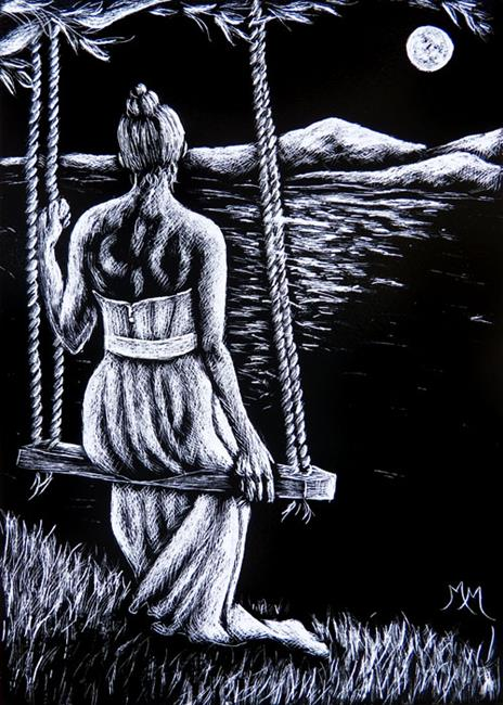 Art: Midnight Tranquility  (SOLD) by Artist Monique Morin Matson