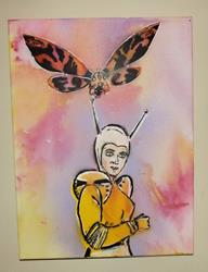 Art: Calling Mothra by Artist Paul Lake, Lucky Studios
