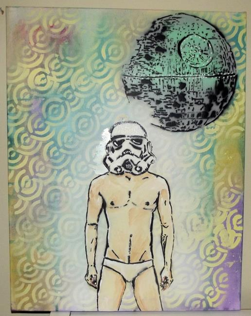 Art: Stormtrooper in Tighty Whities by Artist Paul Lake, Lucky Studios