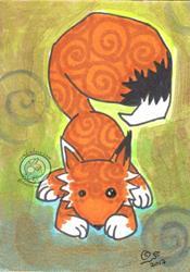 Art: Shimmer Fox by Artist Emily J White