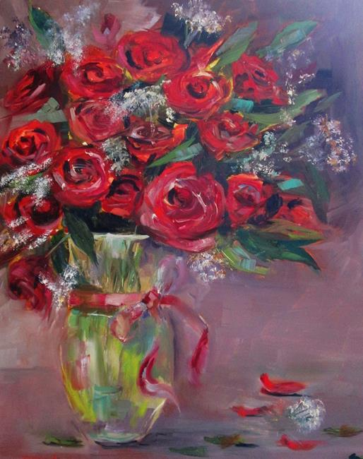 Art: Red Roses by Artist Delilah Smith
