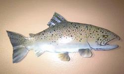 Art: brown trout by Leonard G. Collins by Artist Leonard G. Collins