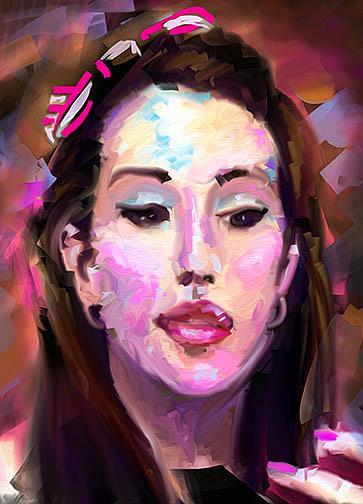 Art: sarah m lr by Artist Alma Lee