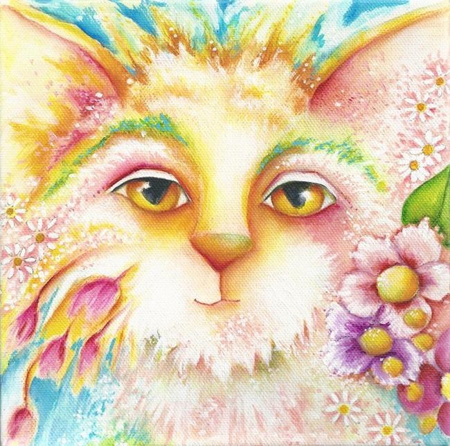 Art: CAT GARDEN by Artist Deb Harvey