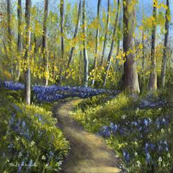 Art: Bluebell Woods No 3 by Artist Janet M Graham