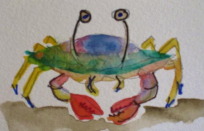 Art: Beach Crab by Artist Delilah Smith