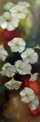 Art: White Petunias by Artist Christine E. S. Code ~CES~