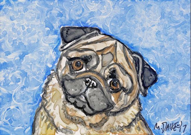 Art: Pug 1 by Artist Melinda Dalke