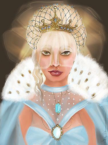 Art: WHITE QUEEN by Artist Alma Lee