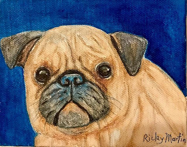 Art: Pugsly by Artist Ulrike 'Ricky' Martin