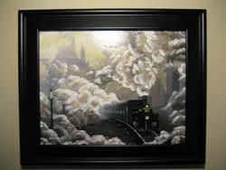Art: hogwarts Express first year jablackwell harry potter painting framed hand p by Artist J A Blackwell