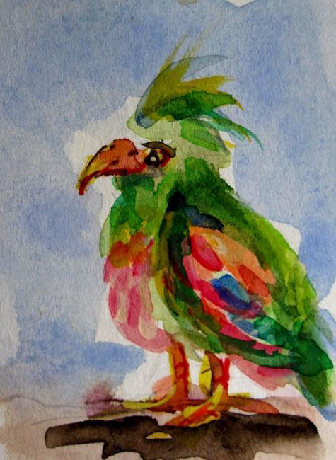 Art: Parrot by Artist Delilah Smith
