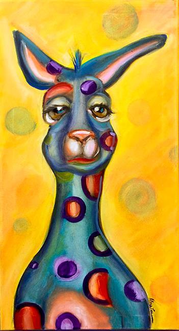 Art: Blue Kangaroo by Artist Alma Lee
